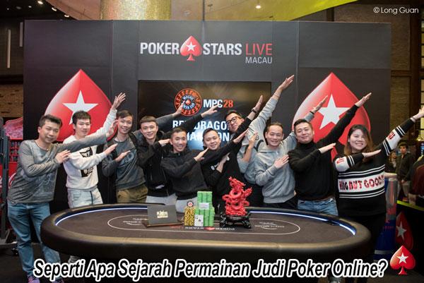 Seperti Apa Sejarah Permainan Judi Poker Online?